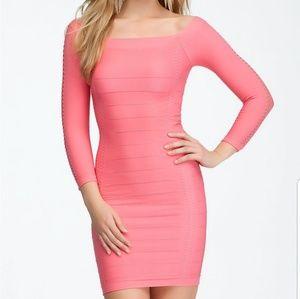 BeBe Off the Shoulder Bodycon Dress